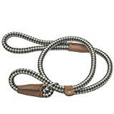 Retrieverleine Halsband und Leine in Einem Hundeleine Verstellbare Trainingsleine Führleine Moxonleine Übungsleine für Hunde Schwarz & Weiß