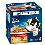 Felix Katzennassfutter Sensations Fleisch Mix 100 g, 24er Pack (24 x 100 g)