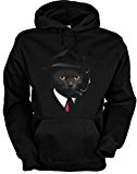 Hoody Agent Cat Katzen Motiv Kapuzenpullover Katze Cat Geschenk für Katzenhalter Geschenk für Katzenbesitzer Weihnachtsgeschenk