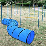 Yahee Hundetunnel Hundesport Training Reifen + Hunde Agility Hürden und Slalom-Stangen-Set