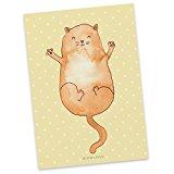 Mr. & Mrs. Panda Postkarte Katzen Umarmen - 100% handmade in Norddeutschland - Katzen, Katze, Kater, Mietze, Cat, Cats, Katzenhalter, Katzenbesitzerin, Haustier, Freundin, Freunde, beste Freunde, Liebe, Katzenliebe, Familie, Postkarte, Geschenkkarte, Grußkarte, Klappkarte, Karte, Einladung